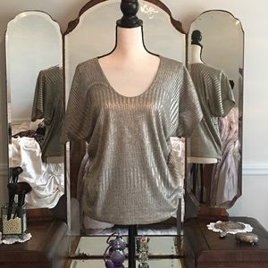 Beautiful silver loose fitting blouse